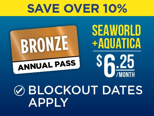 SeaWorld & Aquatica San Antonio 2-Park Bronze Pass