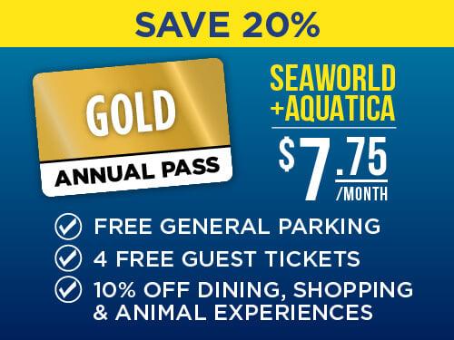 SeaWorld & Aquatica San Antonio 2-Park Gold Pass