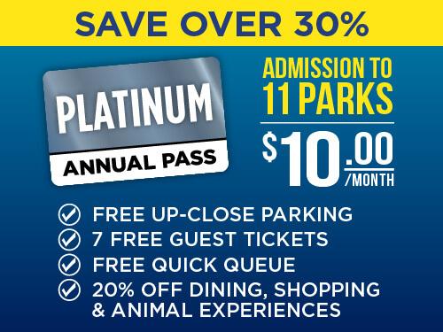 SeaWorld & Aquatica San Antonio Platinum Pass