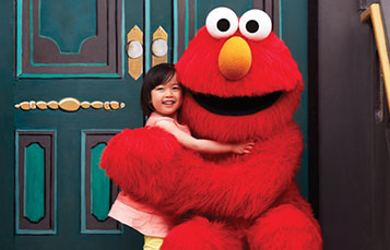 Elmo with Girl