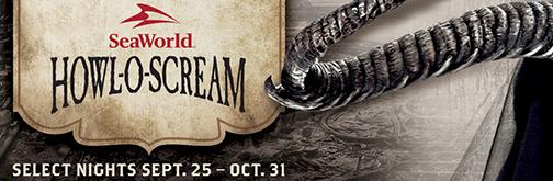 SeaWorld Howl-O-Scream on select nights September 25 - October 31