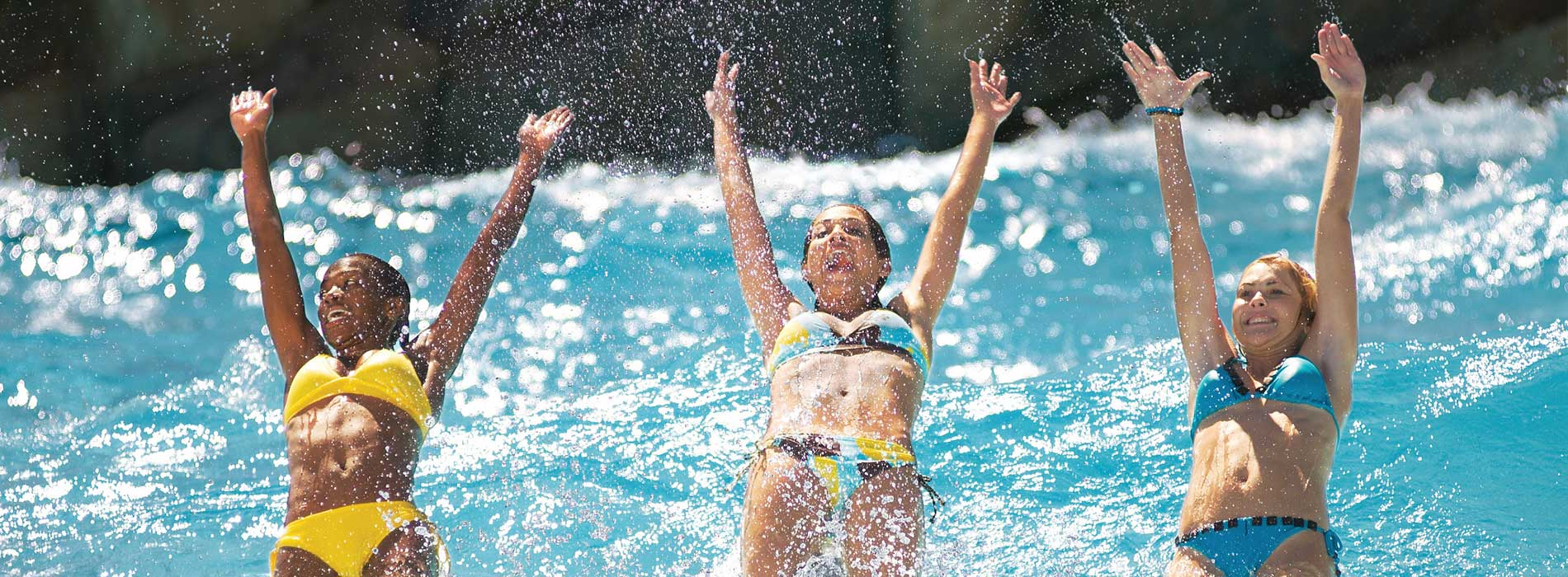 Splash and play in the wave pools at Aquatica