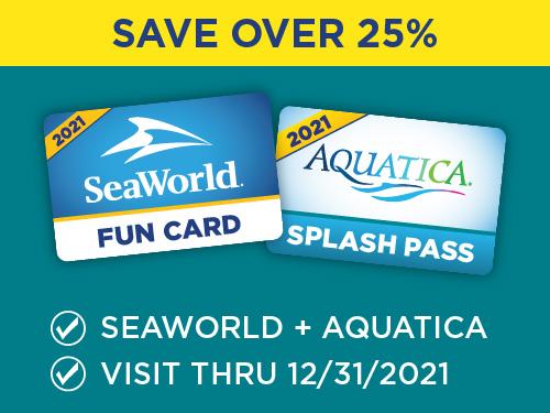 Save over 25% seaworld and aquatica!