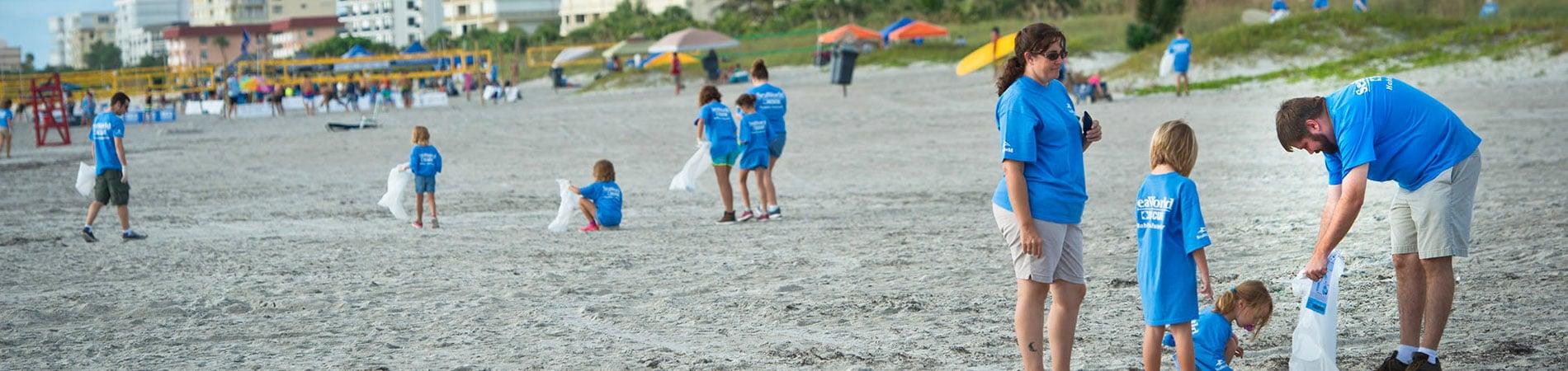 SeaWorld Beach Cleanup