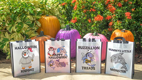 Halloween reusable bags at SeaWorld Orlando Spooktacular Event