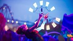 Light Twirler at SeaWorld's Electric Ocean Remix Summer Event