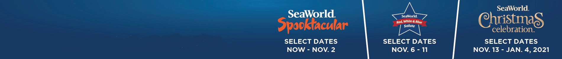Three Events at SeaWorld San Diego