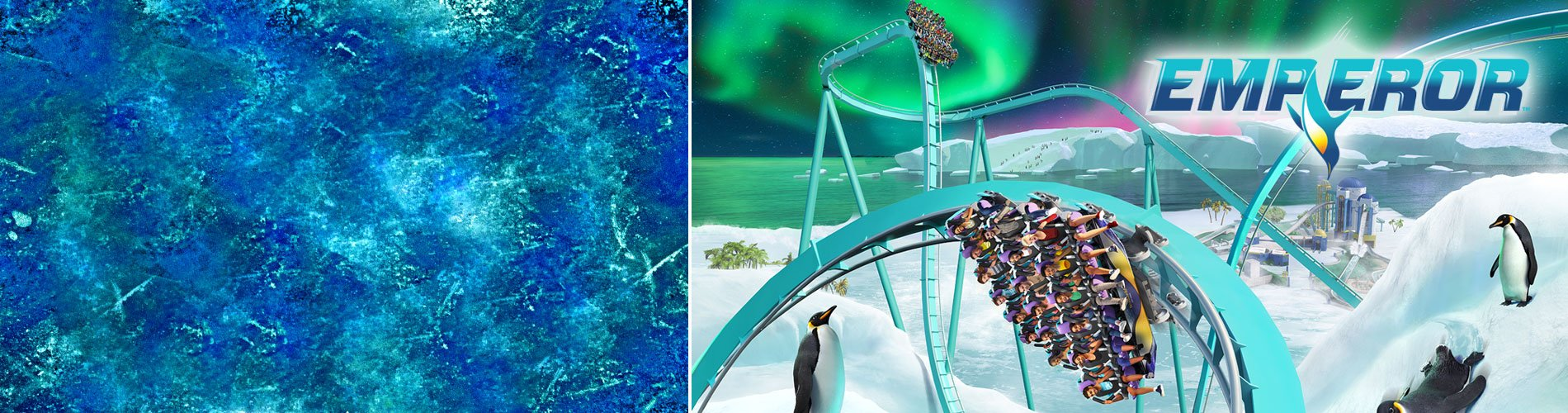 Emperor, the all new dive coaster at SeaWorld San Diego