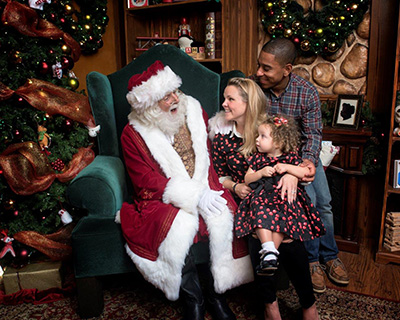 Christmas Celebration Santa and Family