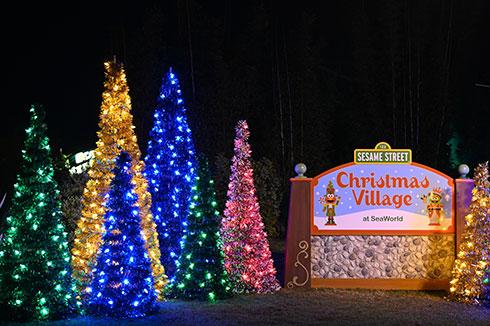 Sesame Street Christmas Village at SeaWorld San Diego Christmas Celebration