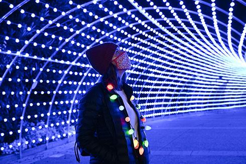 Tunnel of Lights at SeaWorld San Diego Christmas Celebration