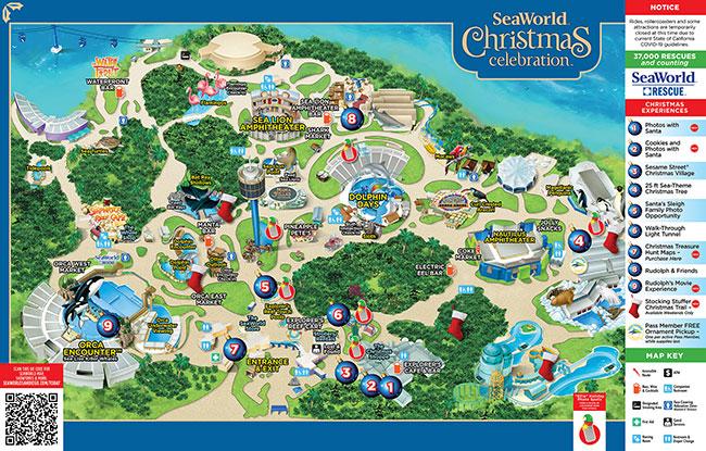 SeaWorld San Diego Park Map