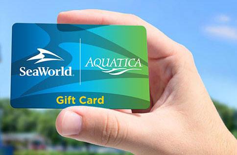 Gift cards at SeaWorld