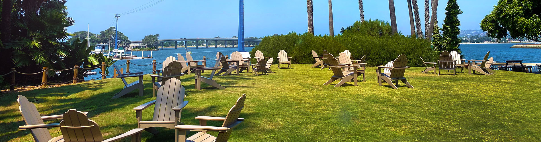 Waterfront dining at SeaWorld San Diego