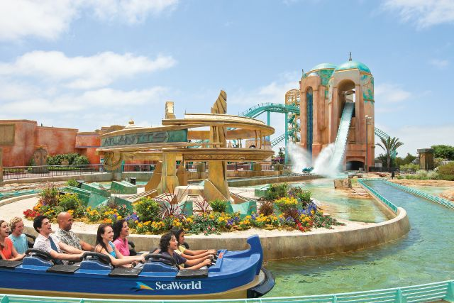 Journey to Atlantis in San Diego is filled with splashing action!