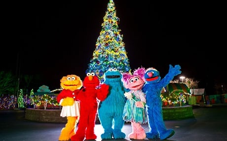 Rock around the Christmas Tree at SeaWorld San Diego's Sesame Street Christmas Celebration