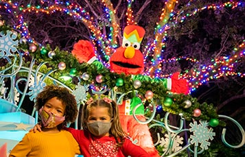 Sesame Street Meet and Greet during Christmas Celebration at SeaWorld San Diego