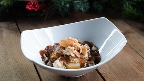 Loaded Mashed Potato Bowl at Shipwreck Reef Cafe during SeaWorld Christmas Celebration