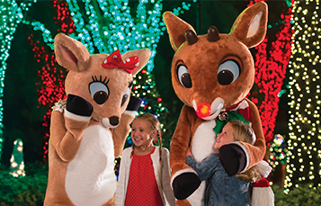 Rudolph and Clarice at SeaWorld's Christmas Celebration