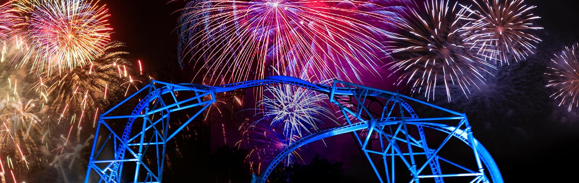 Fireworks above SeaWorld San Diego Electric Eel