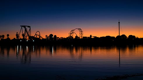 SeaWorld San Diego at dusk