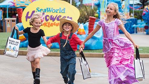 Daytime Trick-or-Treating during SeaWorld San Diego Halloween Spooktacular