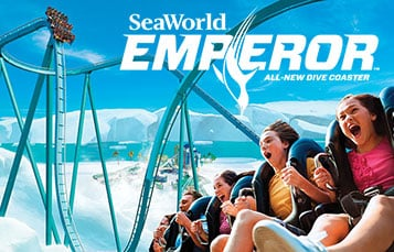 Emperor Dive Roller Coaster at SeaWorld San Diego