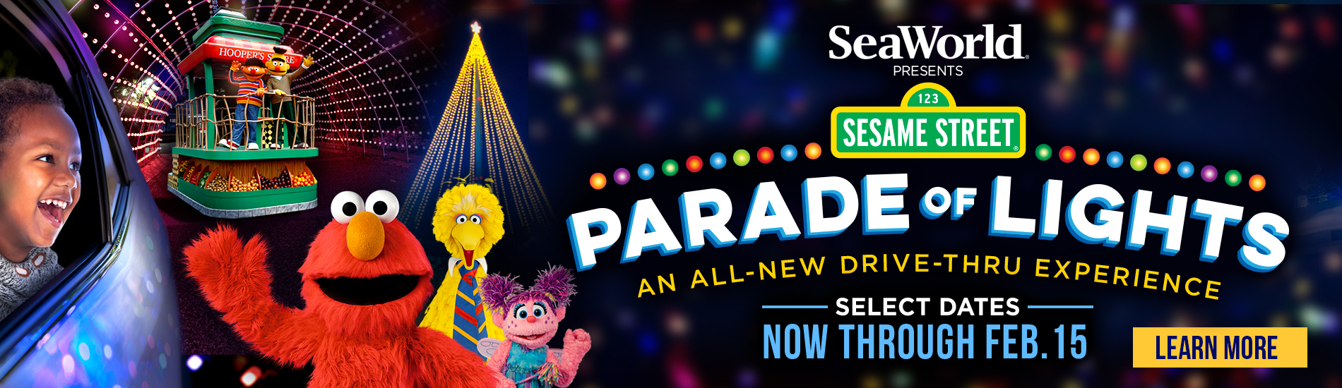 ALL-NEW Sesame Street Parade of Lights Drive-Thru Experience