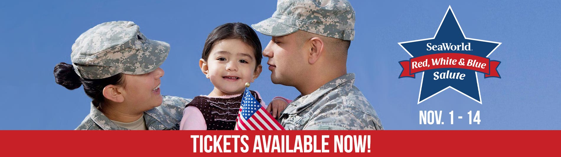 Red White and Blue Salute event at SeaWorld San Diego
