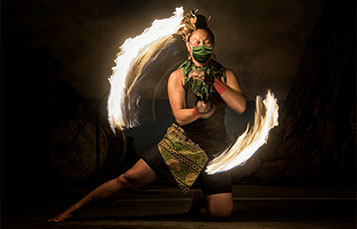 Polynesian Fire Dancing at San Diego Seven Seas Food Festival