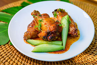 Chicken wings at Seven Seas Food Festival at SeaWorld San Diego