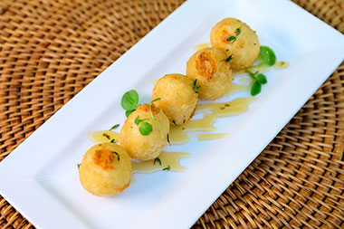 Goat cheese croquettes at Seven Seas Food Festival at SeaWorld San Diego