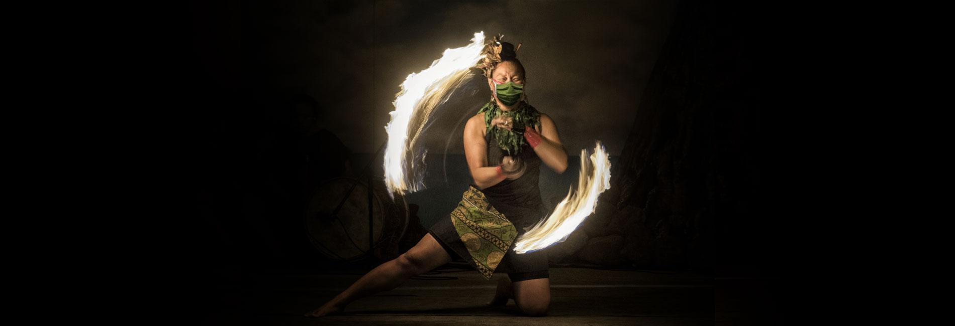 Polynesian Fire Dancing at San Diego Seven Seas Food Festival