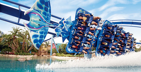 Rides and roller coasters at SeaWorld San Diego