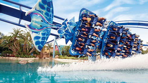 Roller coasters at SeaWorld San Diego