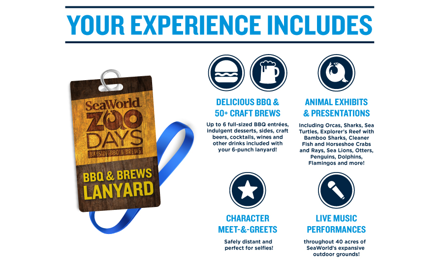 BBQ & Brews Lanyard, Meet & Greets, Animal Exhibits and Events are all included with your admission!