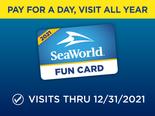 Pay for a Day Play All Year with a SeaWorld San Diego Fun Card