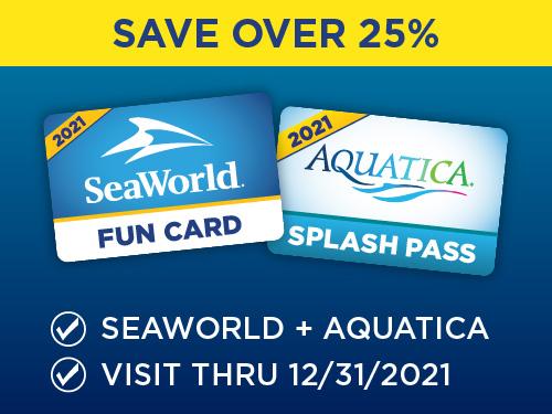 Save over 25% on SeaWorld and Aquatica!