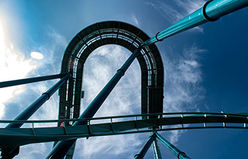 Emperor Roller Coaster Track SeaWorld San Diego