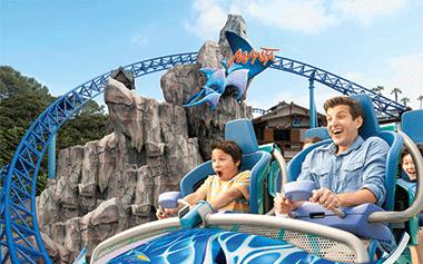 Ride Manta the roller coaster at SeaWorld