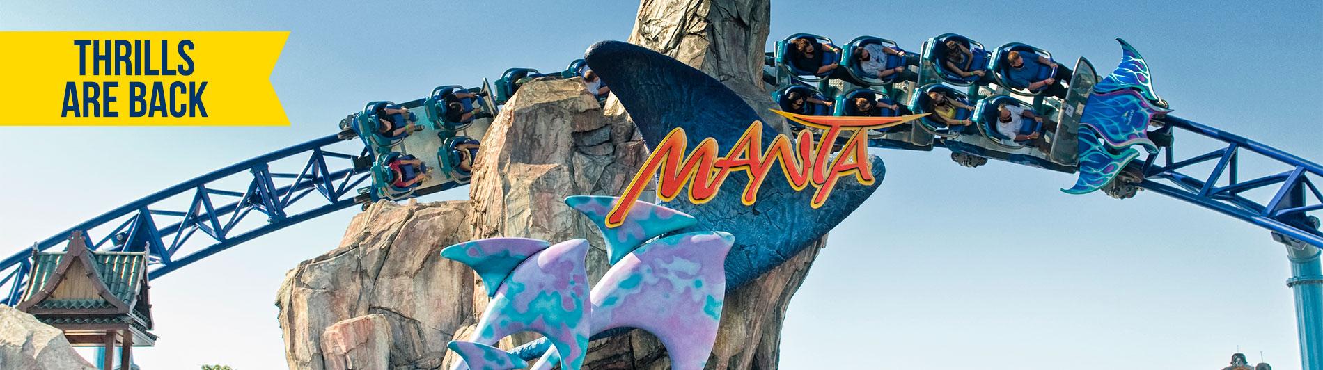 Manta at SeaWorld San Diego