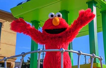 Elmo at Sesame Street Bay of Play SeaWorld San Diego