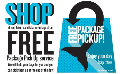 Package pick-up available at SeaWorld San Diego