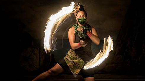 Polynesian Fire Dancing at Seven Seas Food Festival