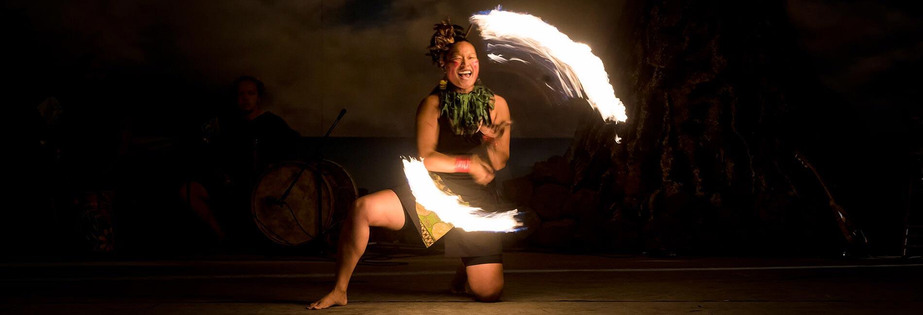 Polynesian Fire Dancing at Seven Seas Food Festival