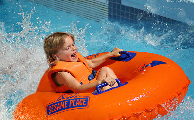 Tube Ride at Sesame Place