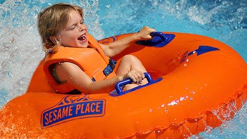 Splashy Water Slides at Sesame Place San Diego