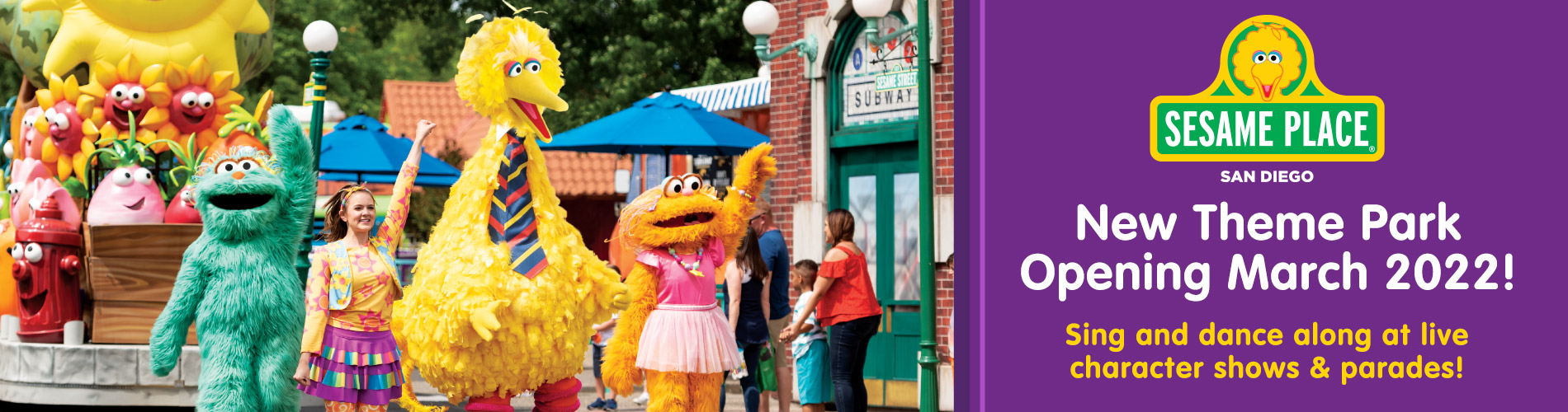 Sesame Place San Diego Opening March 2022
