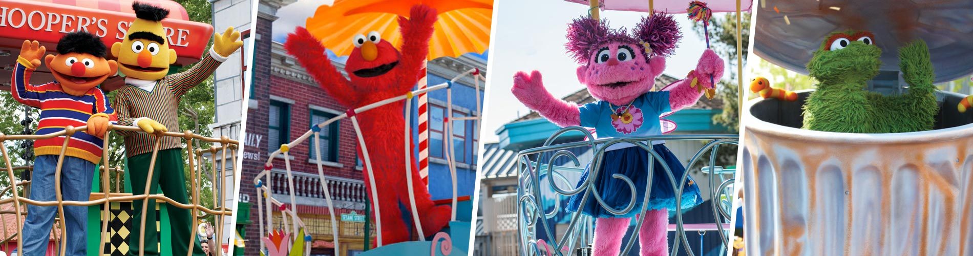 Your furry friends in the Sesame Street Party Parade