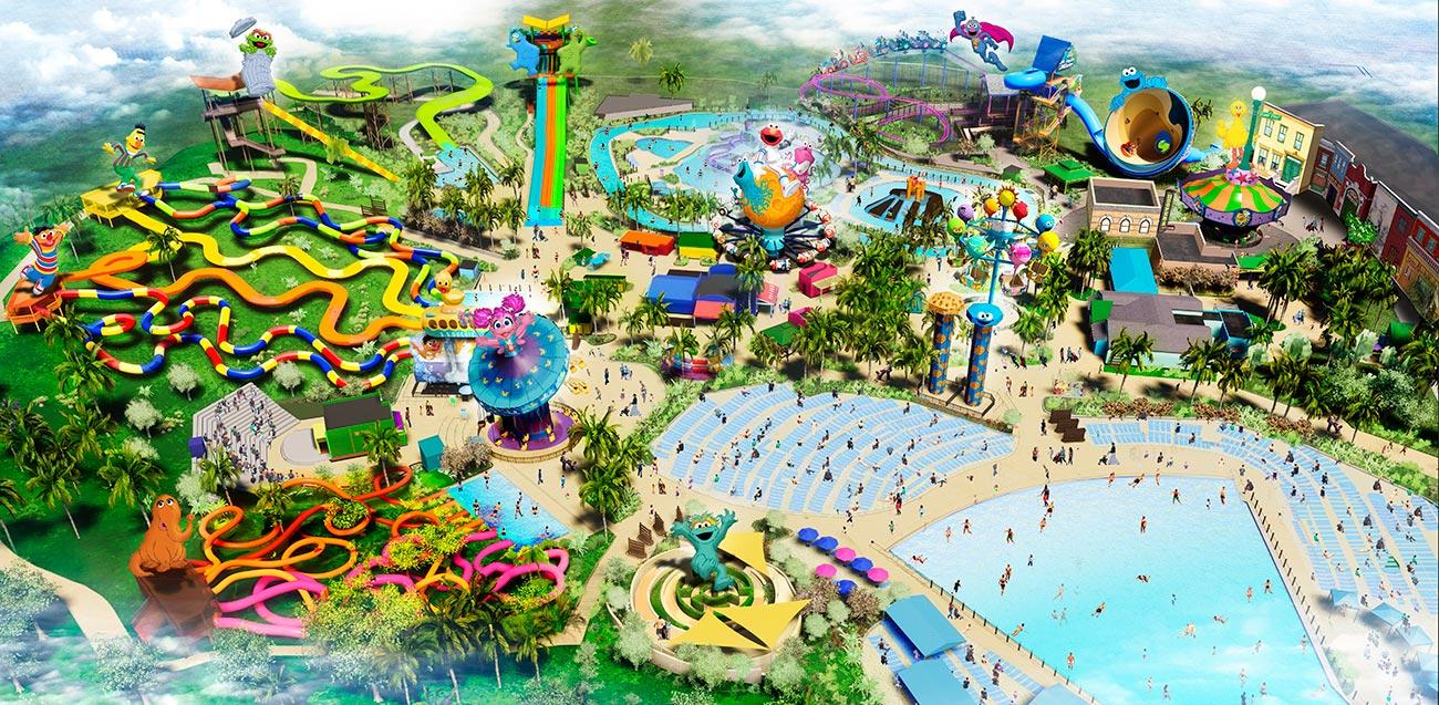 Theme Park Map at Sesame Place